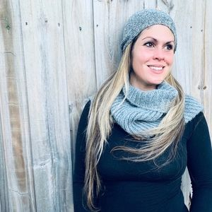 Gray Infinity Scarf and Beanie